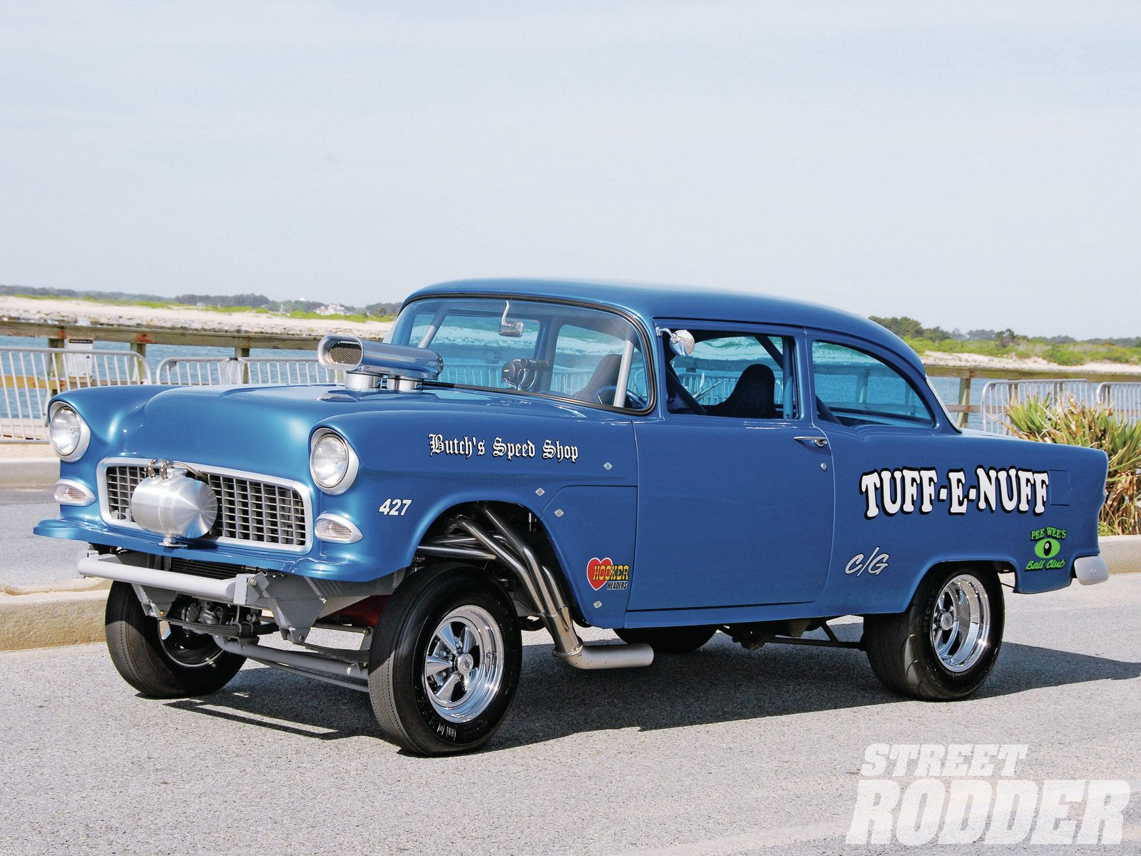 1955 chevrolet hot rod truck pictures to pin on pinterest - 52 Chevy Gasser On The Street 1955 Chevy Gasser Runs A 502ci Big Block Was