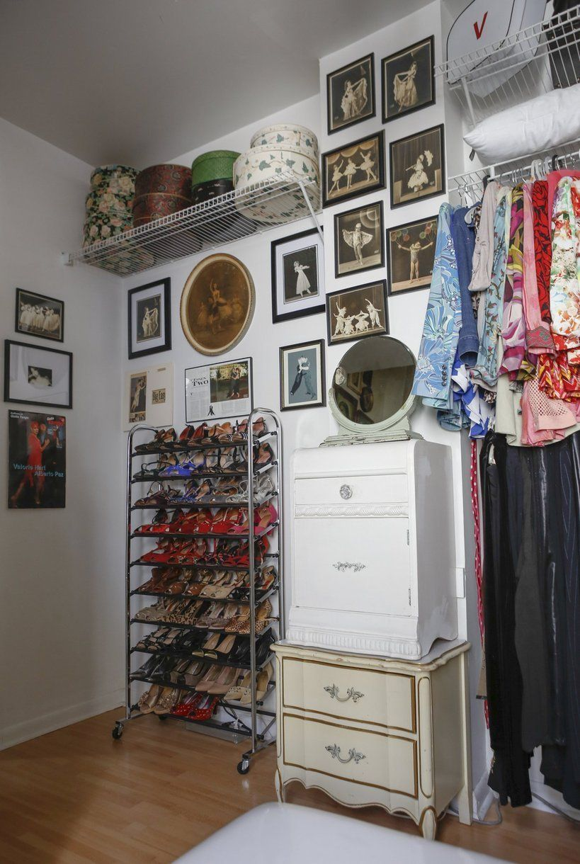 Valorie's Bold New Orleans Home Great shoe rack.