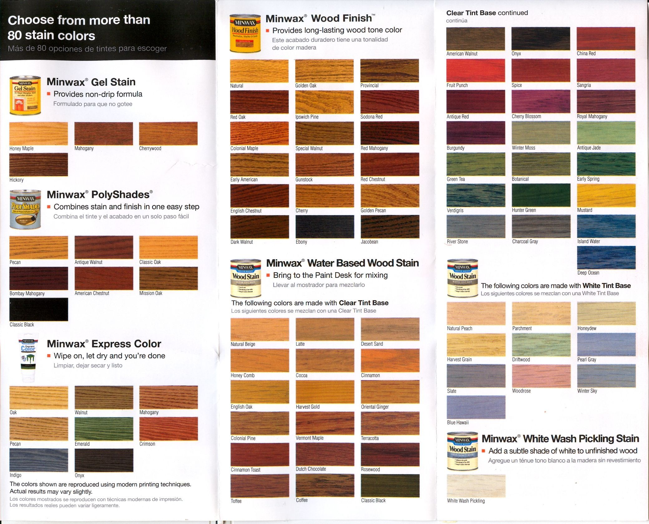 Home Depot Deck Paint Color Chart Minwax Polyshades Color Chart
