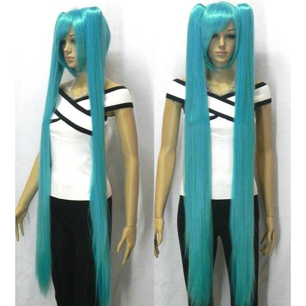 73cm Turquoise Miku Cosplay Wig