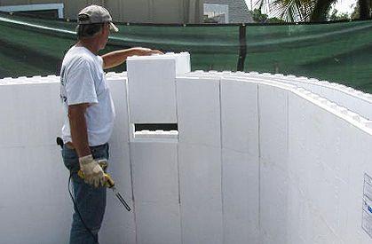 Fox blocks icf wall system gtn building materials for Foam block wall construction