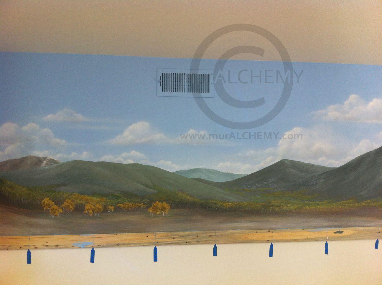 Model scale train background backdrop mural realistic - Model railroad backdrops ...