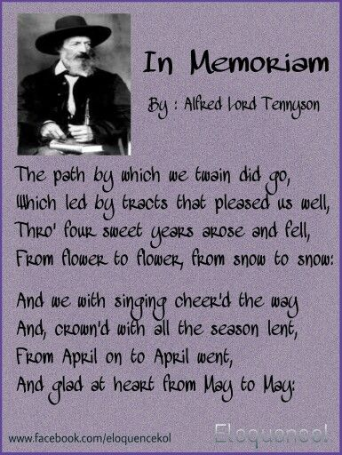 In Memoriam, By : Alfred Lord Tennyson | Love poems ...