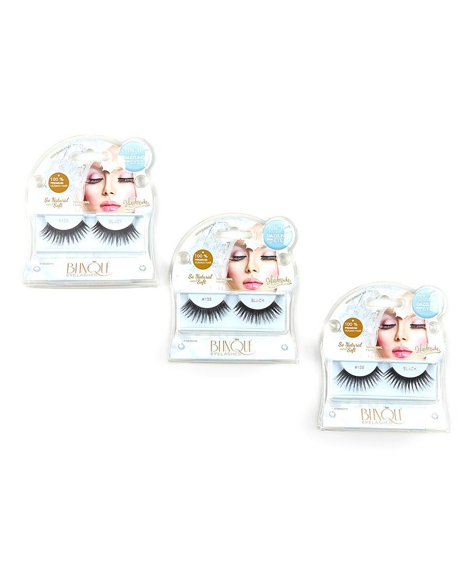 Another great find on #zulily! Blinque Black Charming False Eyelashes - Set of Three by Blinque #zulilyfinds