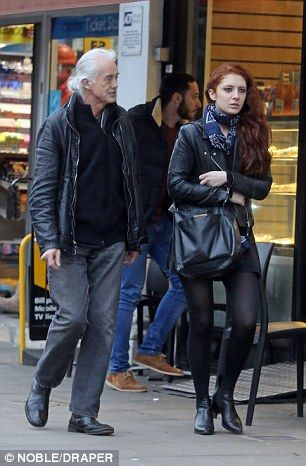 Jimmy Page 71 Takes Girlfriend To Nando S Led Zeppelin