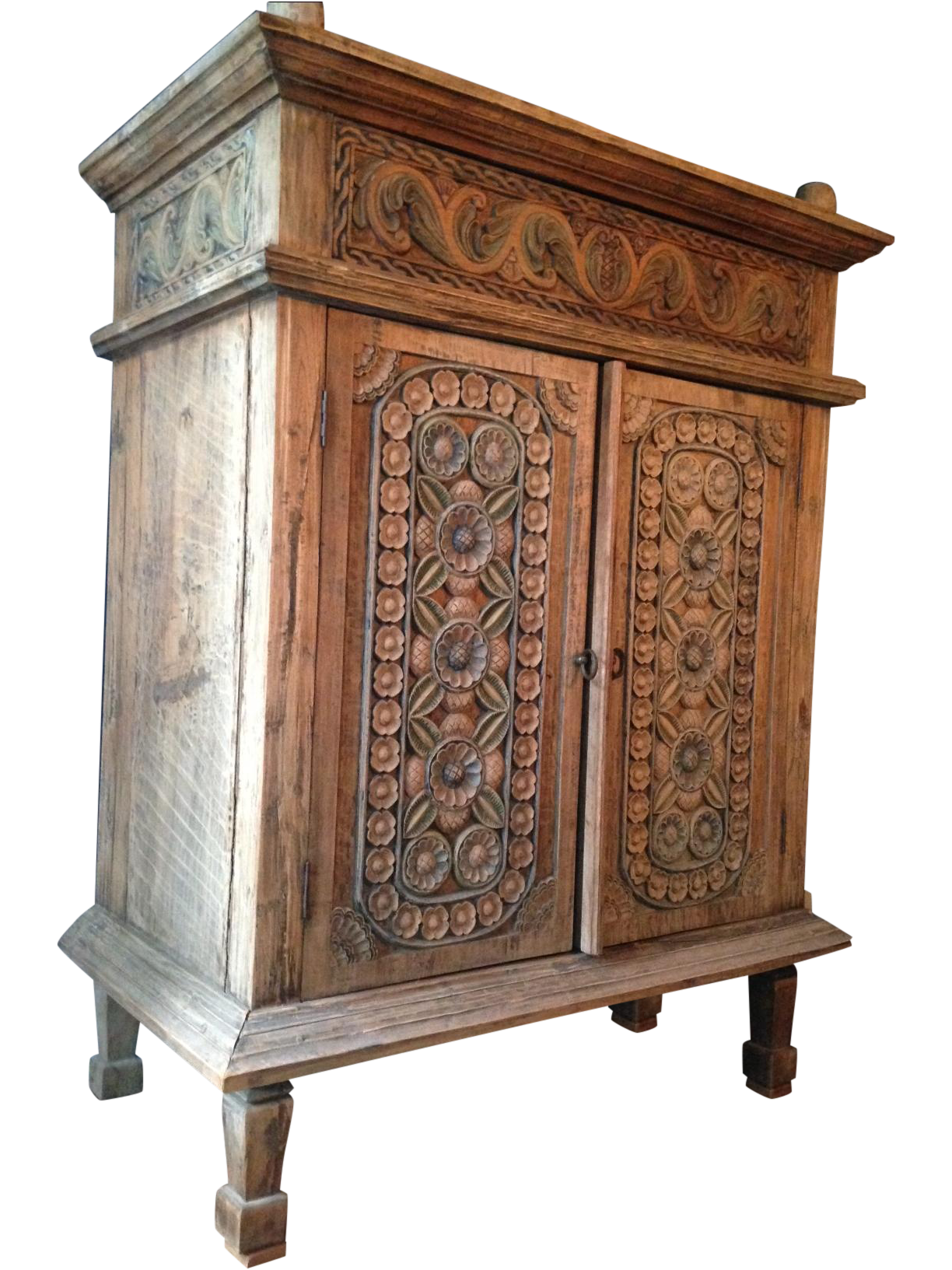Chinesischer Bauernschrank Carved Teak Indonesian Armoire On Chairish Bali Furniture