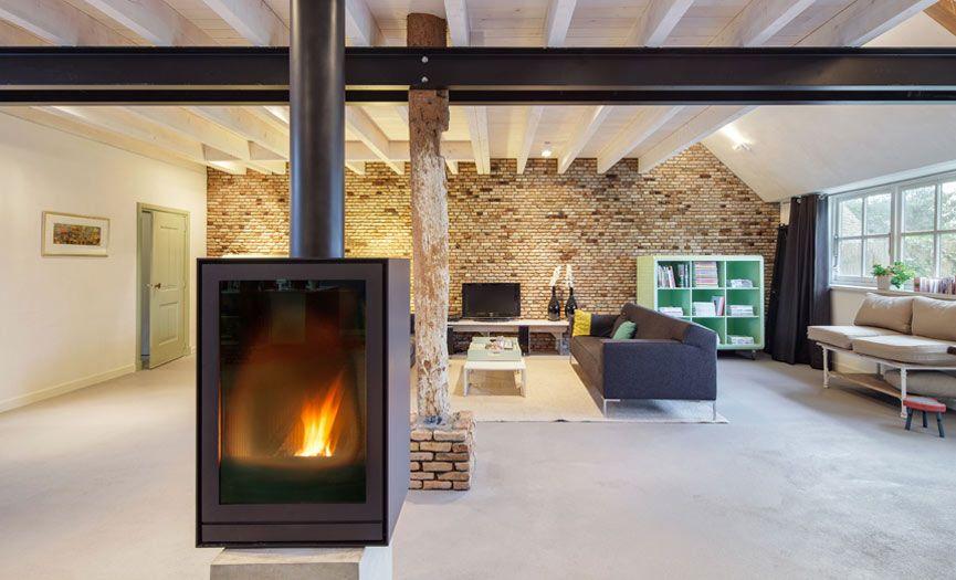 Bytr architect bergambacht verbouwing boerderij openhaard for Boerderij interieur ideeen