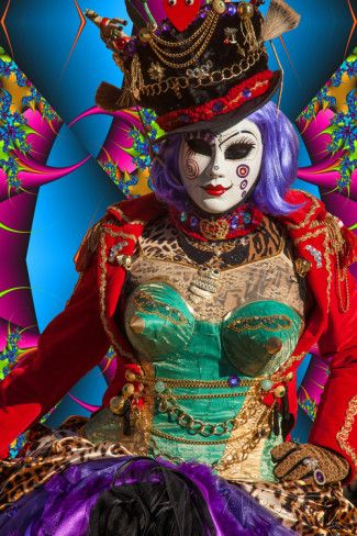 Elaborate Costume for Carnival Festival, Venice, Italy in ...