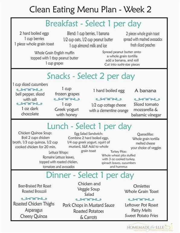Clean Eating Meal Plan 100 Free  Includes Breakfast Lunch Dinner  Snacks eating breakfast eating dinner eating for beginners eating for weight loss eating grocery list ea...