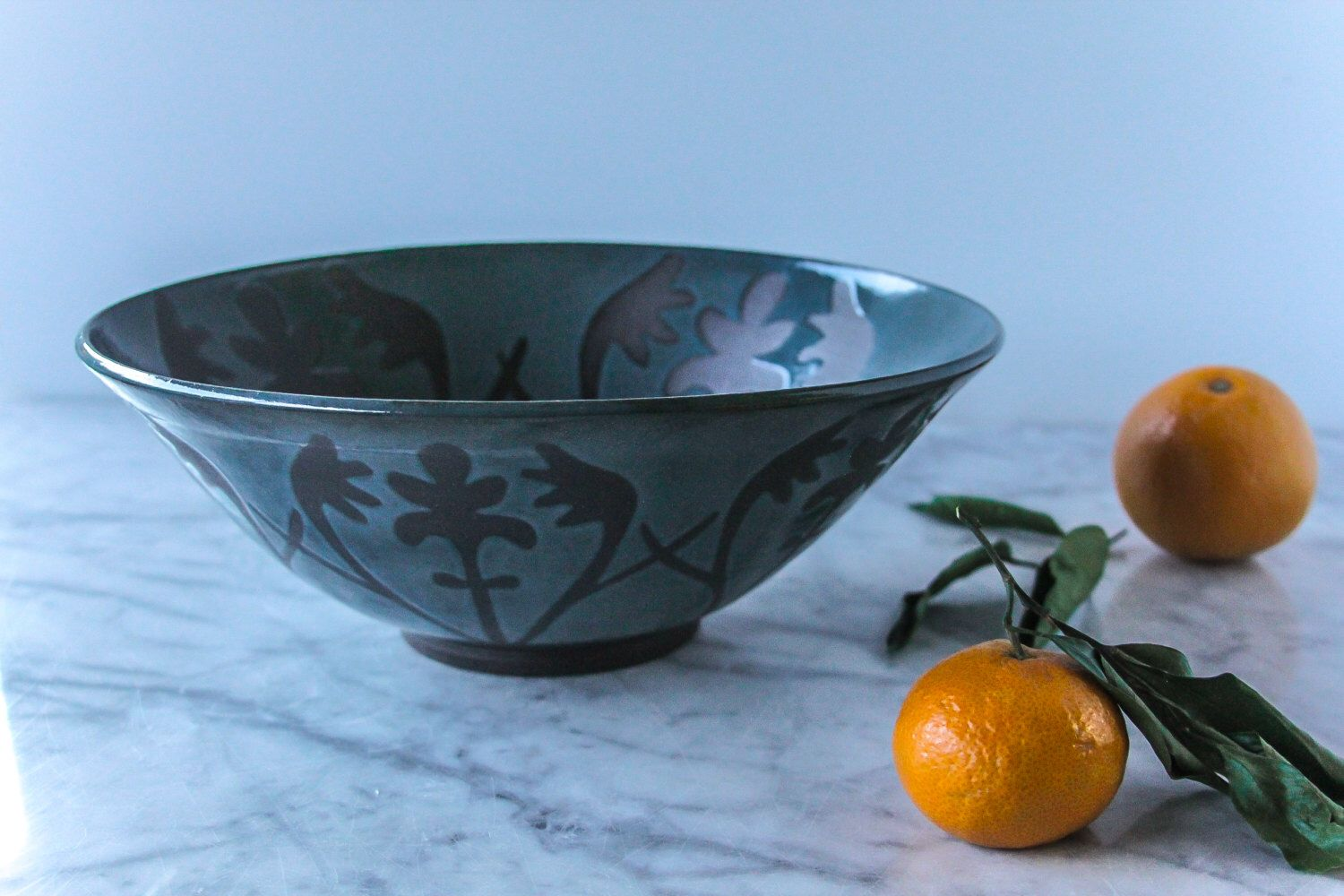 Ready to Ship: XL Serving Bowl, Elizabeth Pattern, Teal/Turquoise, Handmade Bowl by FoxtailPottery on Etsy https://www.etsy.com/ca/listing/484821330/ready-to-ship-xl-serving-bowl-elizabeth