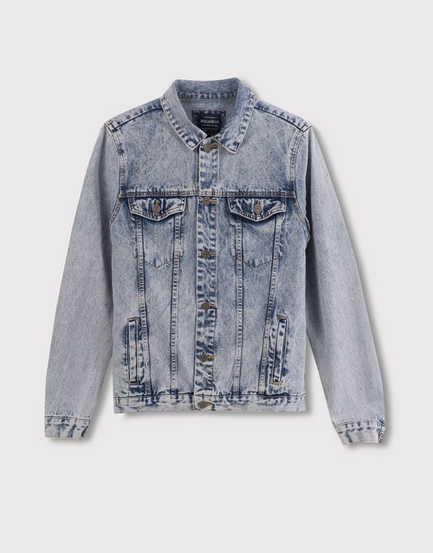 Pull Hombre Collection Vaquera Cazadora Lavado amp;bear Denim BBwqxrz14
