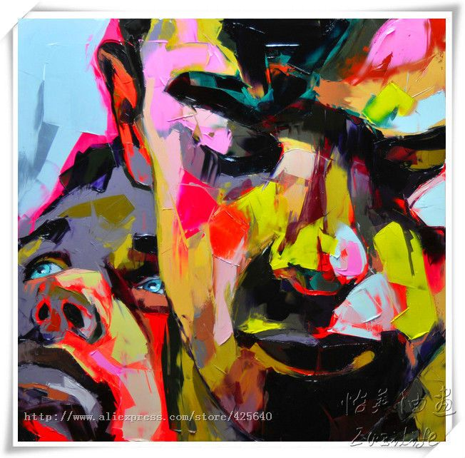 Find More Painting & Calligraphy Information about Palette knife painting portrait Palette knife Face Oil painting Impasto figure on canvas Hand painted Francoise Nielly 24,High Quality art body painting,China art brush painting Suppliers, Cheap art painting work from Eazilife Oil Painting on Aliexpress.com
