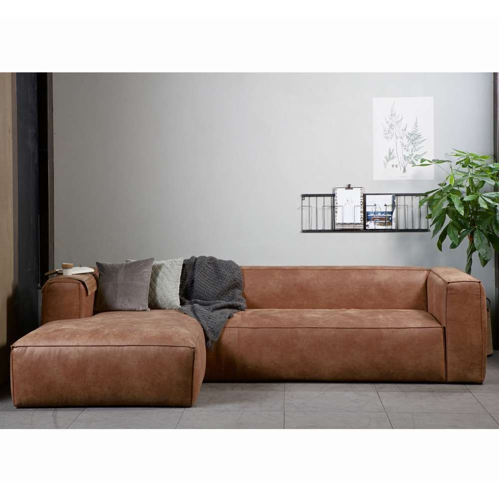 eckgarnitur bean leder cognac couch polster sofa ecksofa longchair links in 2018 sofas. Black Bedroom Furniture Sets. Home Design Ideas