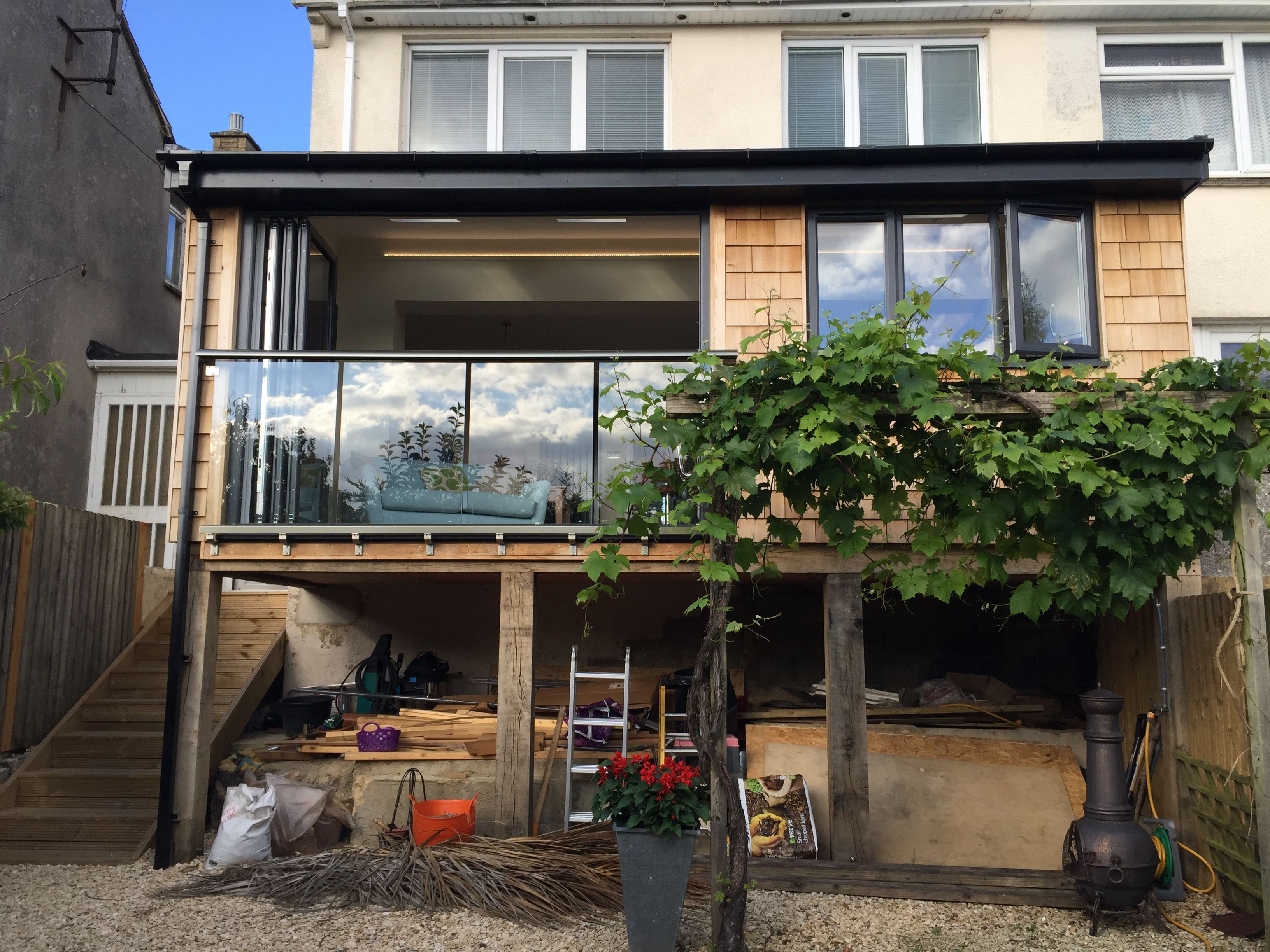 Elevated Timber Frame Extension | Elevated Timber Frame Extension ...
