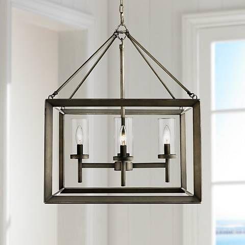 Smyth 21 Wide Gunmetal Bronze Cage Chandelier 6r002 Lamps