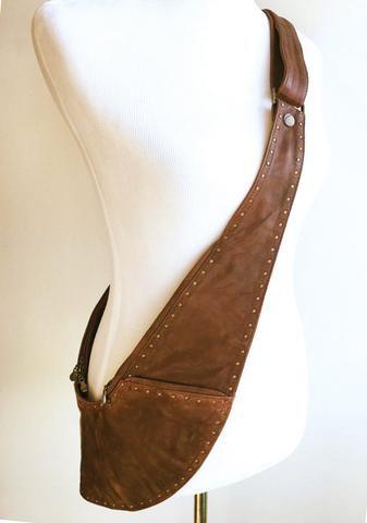 PRE-ORDER  Reversible Brown Tan Genuine Leather Sash Bag  dc0748242c2c