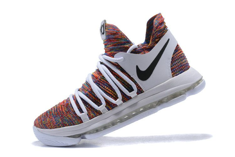 on sale 66f6a 139c2 Cheapest And Latest Newest And Cheapest 2018 Nike KD 10 Multi Color Black  Cool Grey White