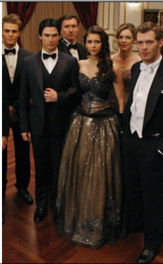 ccf4cd8e88495 Nina's formal dress on the Vampire Diaries episode