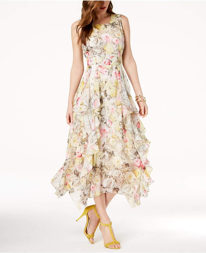 ee12a51ec9d2 I.n.c. Ruffled Lace-Trim Maxi Dress