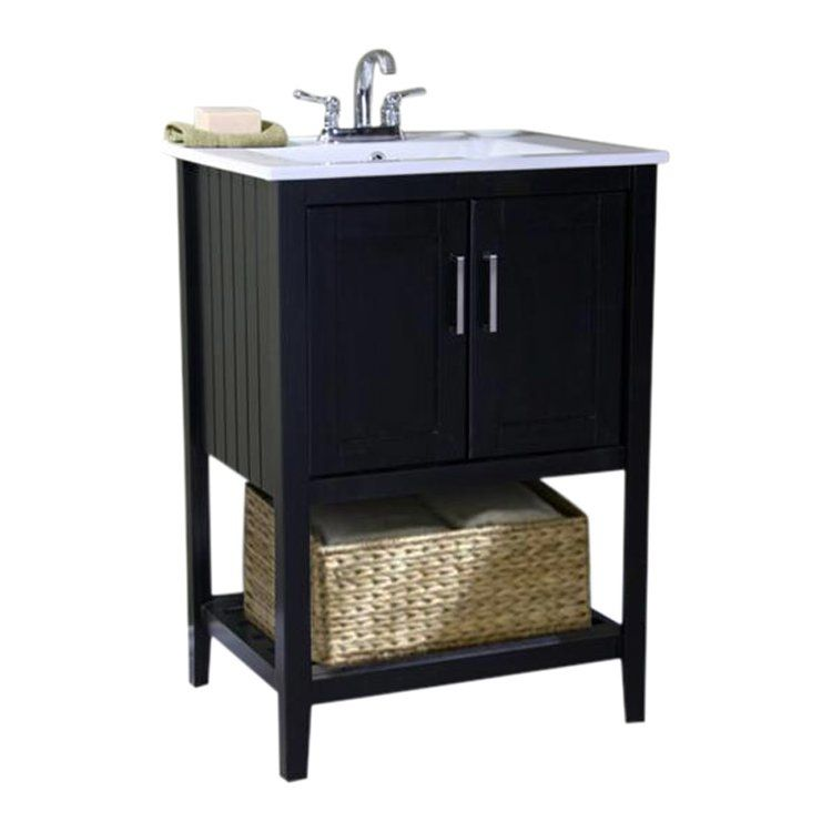 Beachcrest home tamecca 24 single bathroom vanity set