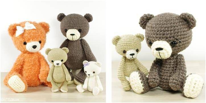 Delightful Crocheted Bear Collection [FREE Crochet Pattern] #crochetbear