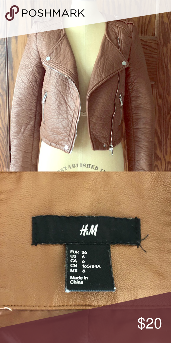 3002ff143 Faux leather brown jacket in 2019