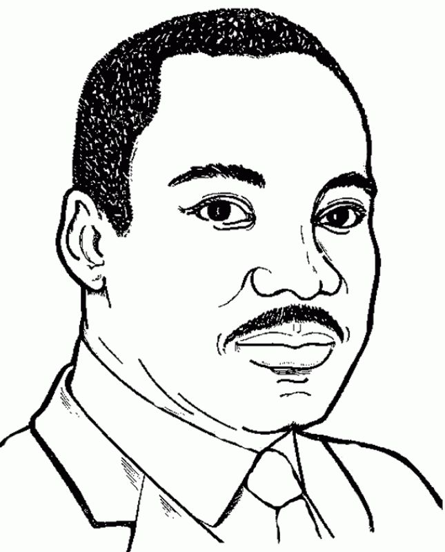 Martin Luther King Jr Coloring Pages Black History Month