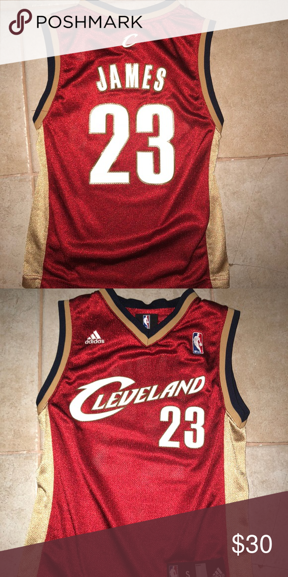 9a4ef075759 Cleveland Cavaliers LeBron James NBA jersey Kid SM Throwback LeBron James  jersey Cavaliers Kids Small adidas Shirts   Tops Tank Tops