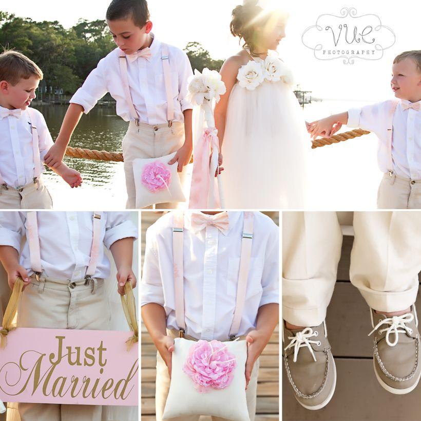 Yorktown Beach Wedding Ceremony: Ms Bentleys On The Bay Wedding, Peach And White, Tan