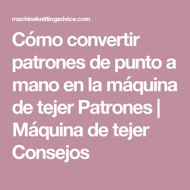 Encantador Patrones De La Máquina De Tejer Cantante Cresta - Ideas ...