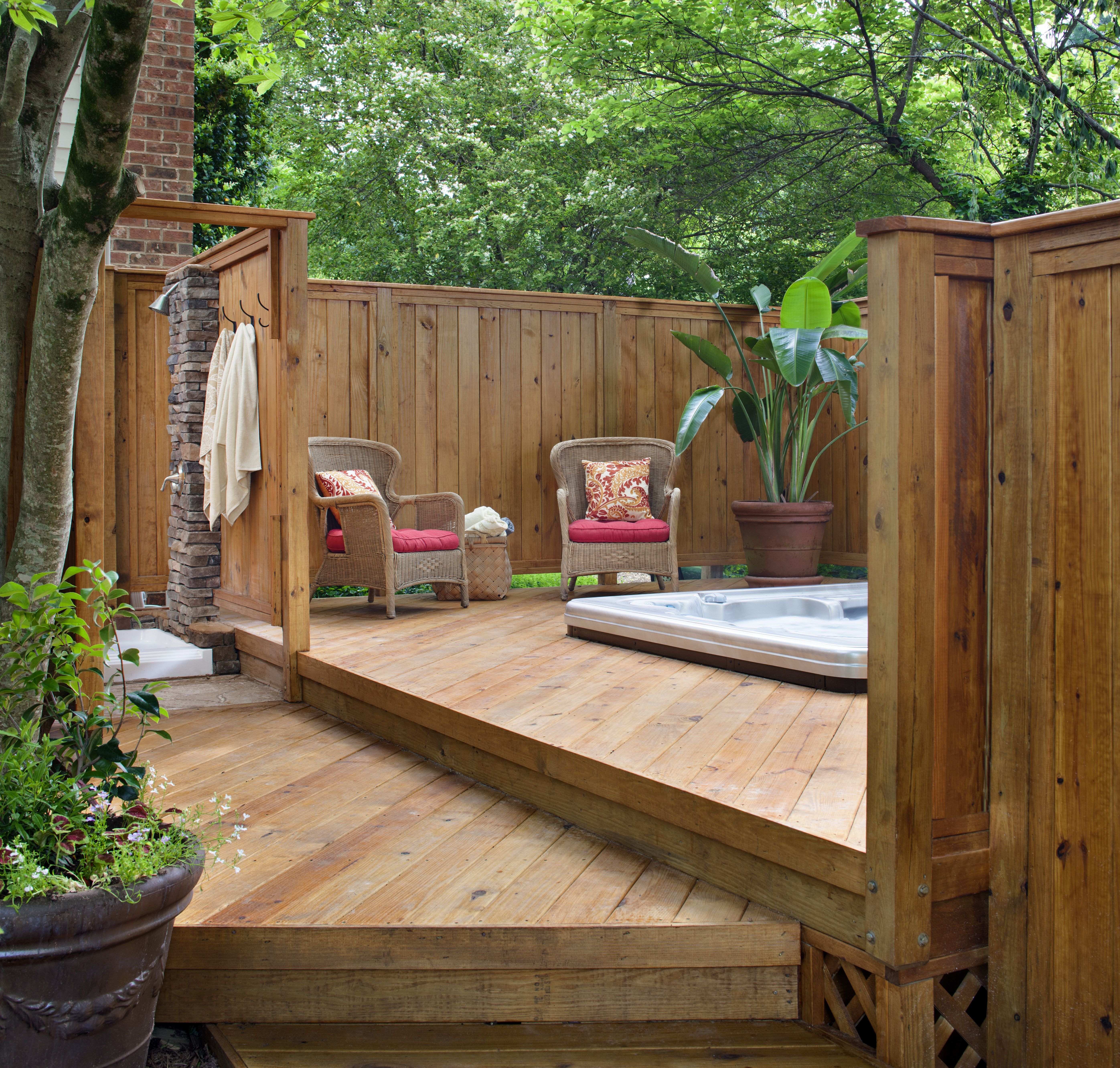 small patio ideas with hot tub. magnificent outdoor patio floor ... - Spa Patio Ideas