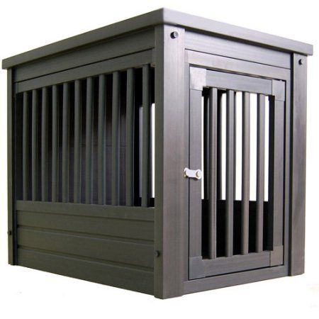 Xtra Large Dog Crate End Table Espresso Trophy Room Pinterest Rooms And Crates