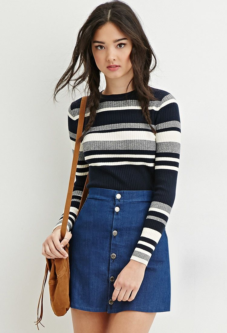 Cropped Stripe Sweater | Forever 21 - 2000185103 | Forever ...