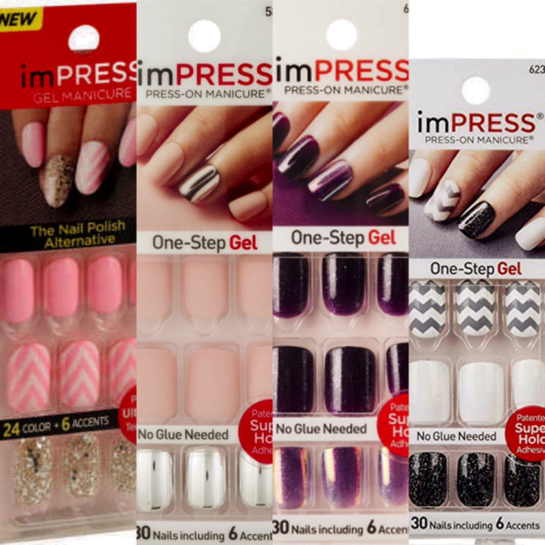I Am Obsessed With These Nails From Kiss They Are So So So Easy To Apply And I Get More Compliments On My Nails While Wearing Impress Nails Nails Kiss Nails