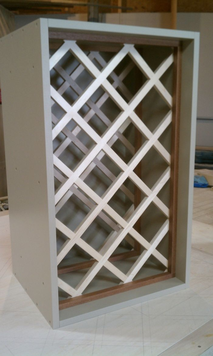 How To Build A Lattice Wine Rack Over The Refrigerator Image Wine Rack Cabinet Diy Wine Rack Built In Wine Rack