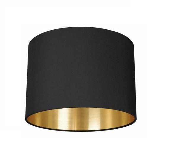 "Lichthaus Worpswede Lampenschirm 45 Cm ""black Meets Gold"" 