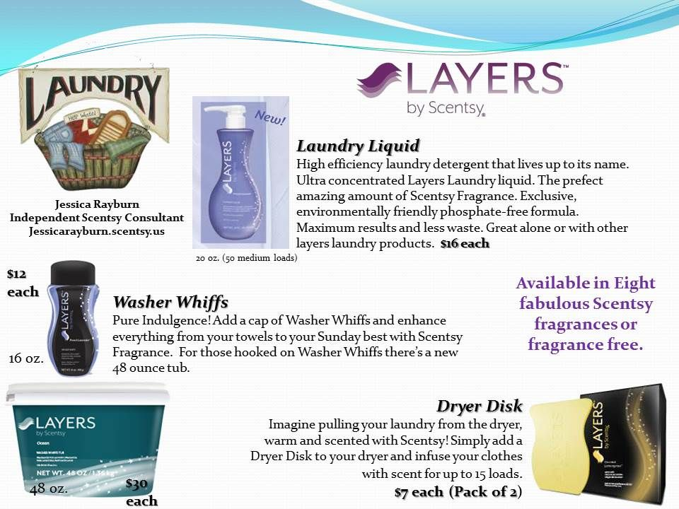 Make Your Laundry Smell Good With Layers By Scentsy Laundry Soap