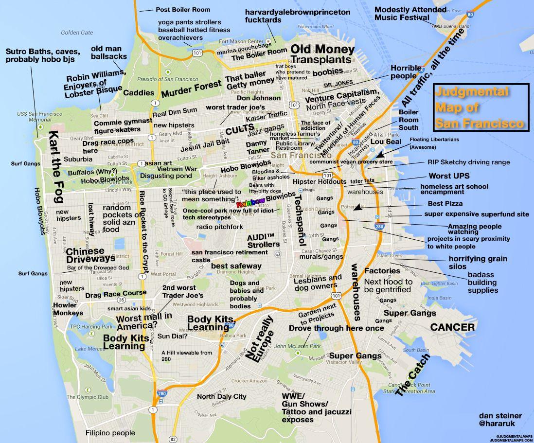 San Francisco CAby Dan Steiner Copr  Dan Steiner All Rights - Chicago judgemental map