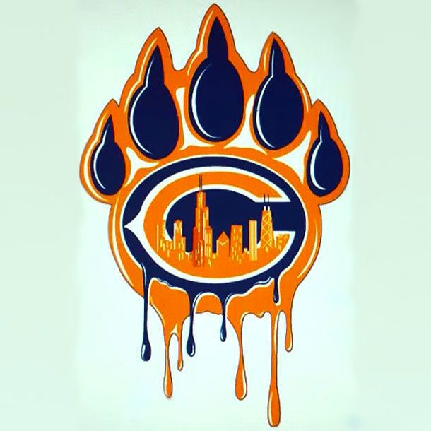 Cool Chicago Bears Paw Print Color Orange Tags Cool Best Awesome Chicago Bears Pictures Chicago Bears Wallpaper Chicago Bears Tattoo