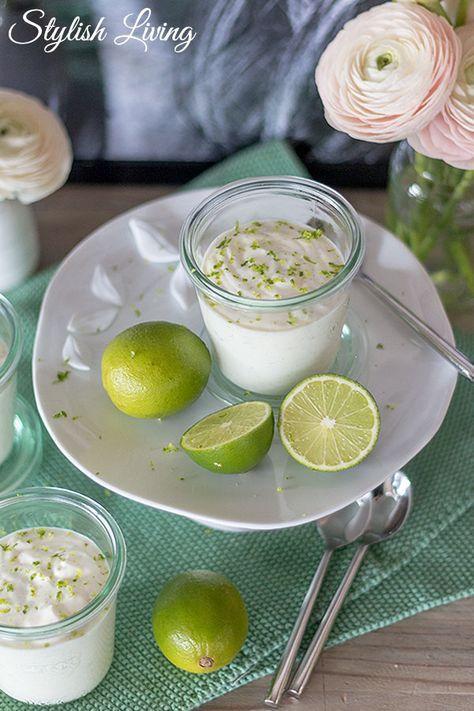 Joghurt-Limetten-Mousse mit Vanille - so lecker!   Stylish Living