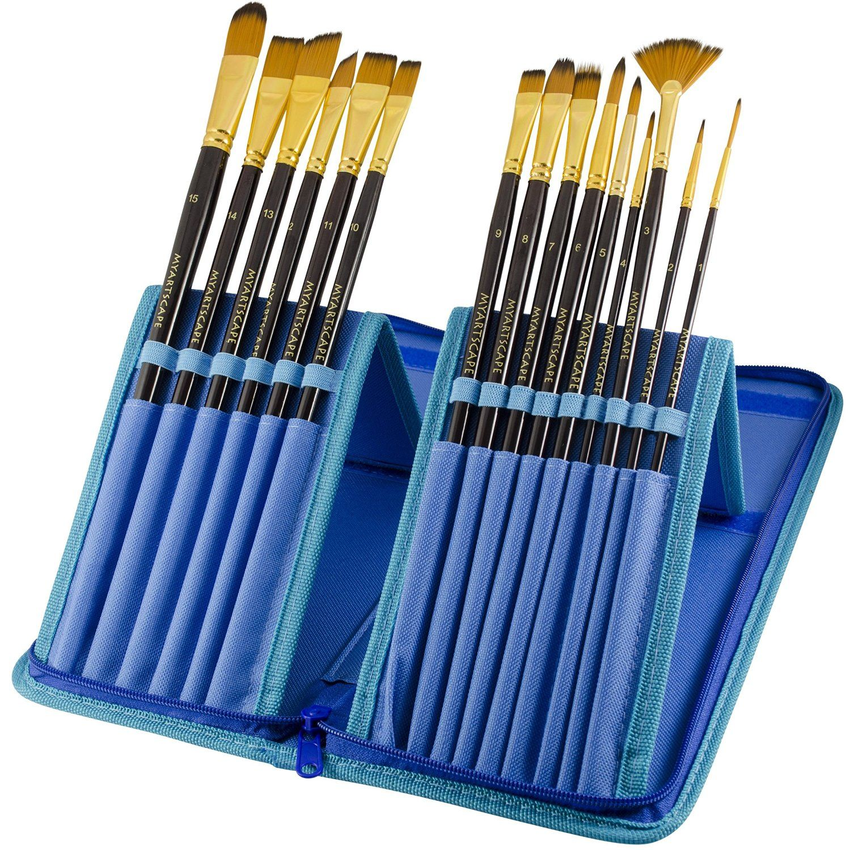Paint Brushes 15 Pc Art Brush Set for