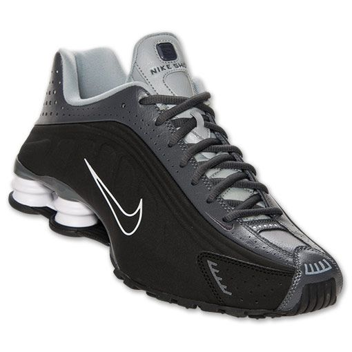 Men\u0027s Nike Shox R4 Running Shoes | FinishLine.com | Black/Dark Grey/Silver