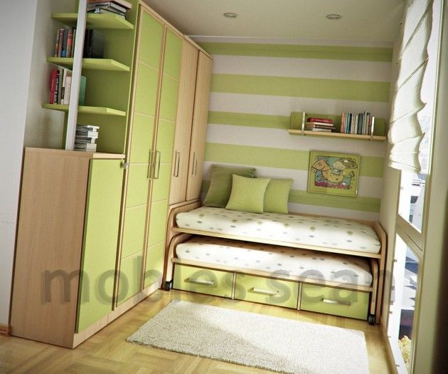 Good Beech Lime Green Kids Room Ideas With Bunk Beds Wardrobes Floating Shelf  And White Fur Rug