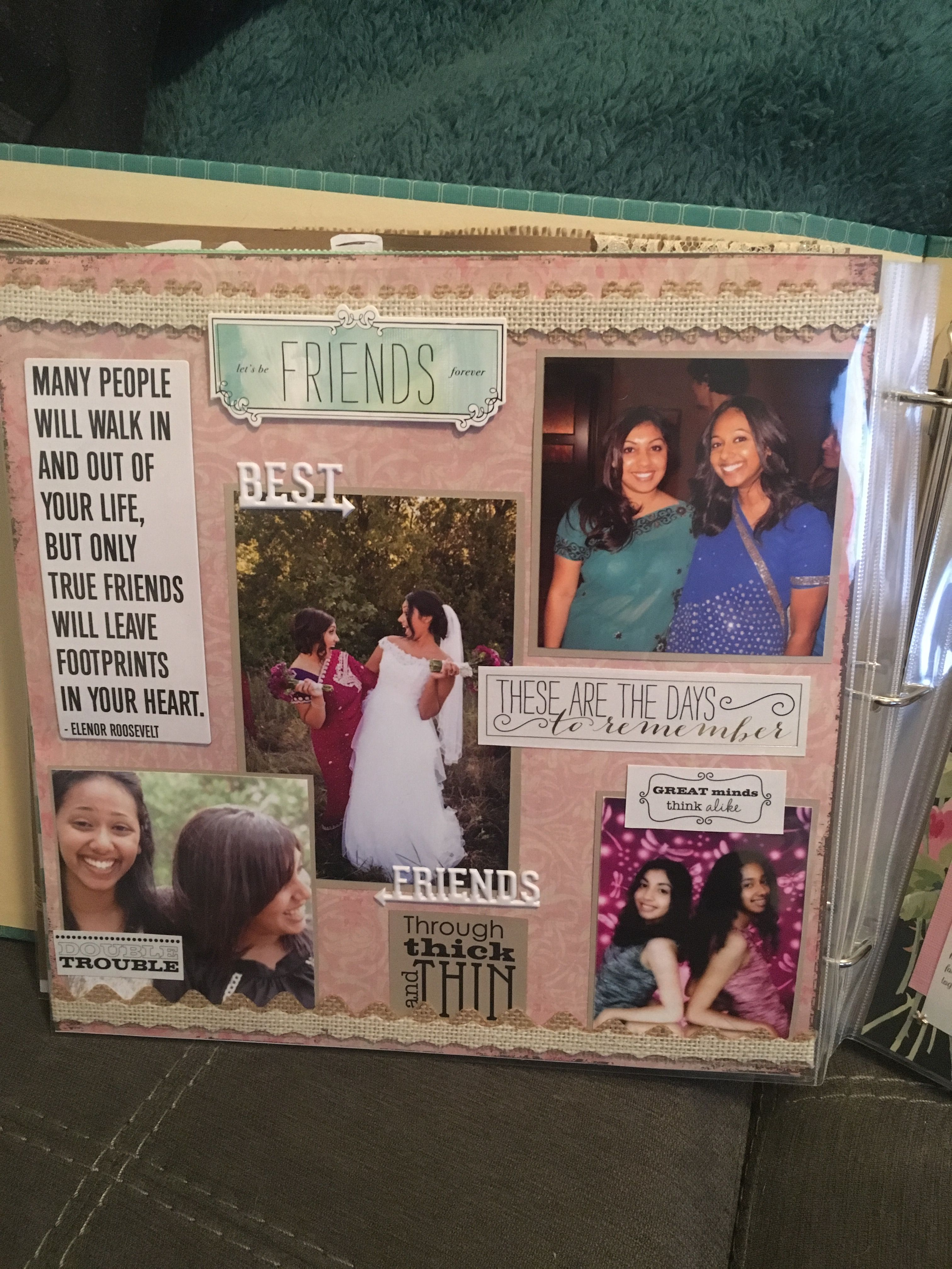 Scrapbook From Bridesmaids To Bride Bridesmaid Page Bridal Gifts
