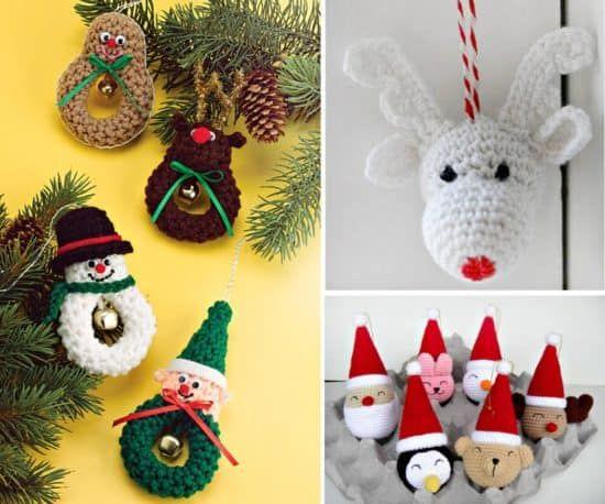Christmas Santa Claus Teddy Bear Wreath Villiage Snow Crochet Top Kitchen Towel