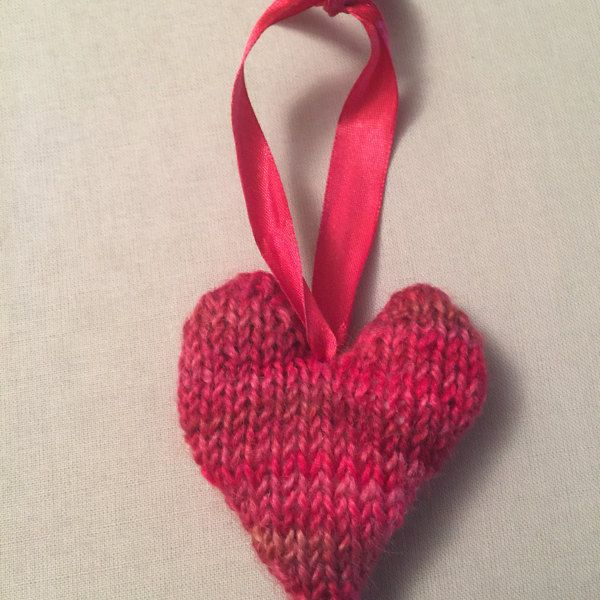 This Is A Free Pattern For A Little Knitted Love Heart This Can Be