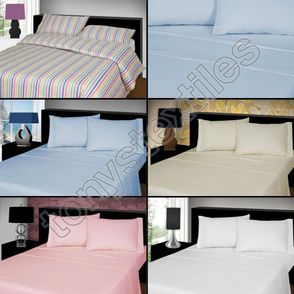 Double Bed Flannelette Sheet Fitted or Flat