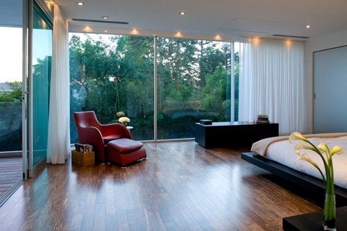 The glass bedroom. I want this entire bdroom. its perfect:)