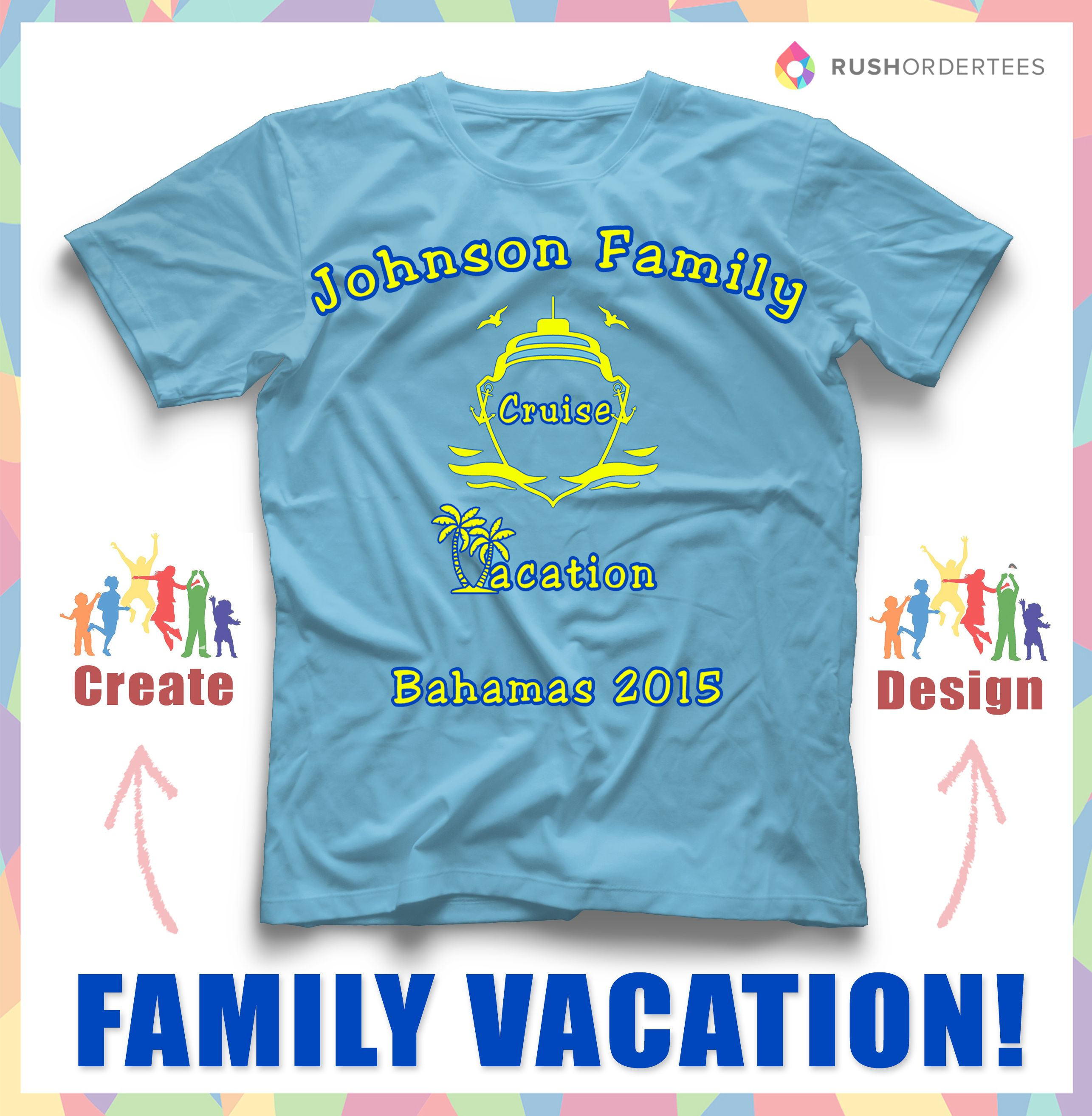 Family cruise vacation custom t-shirt design idea! Create a family ...