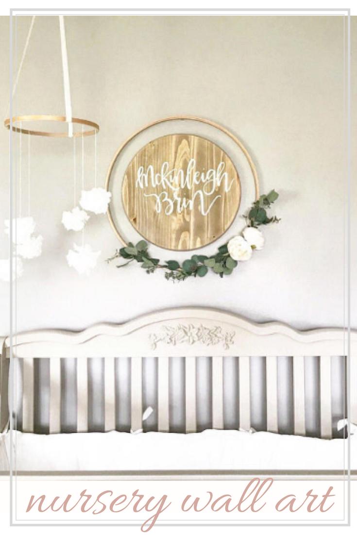 Rustic nursery decor boho chic nursery wall decor custom child